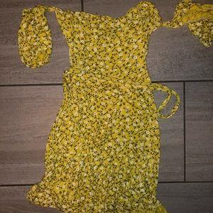 PLT off shoulder floral dress